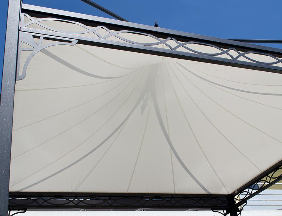 gartenpavillon metall mit festem dach. Black Bedroom Furniture Sets. Home Design Ideas
