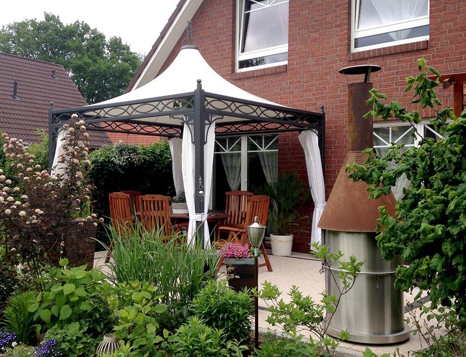metall pavillon roma 3x3 4x4 mein gartenpavillon. Black Bedroom Furniture Sets. Home Design Ideas