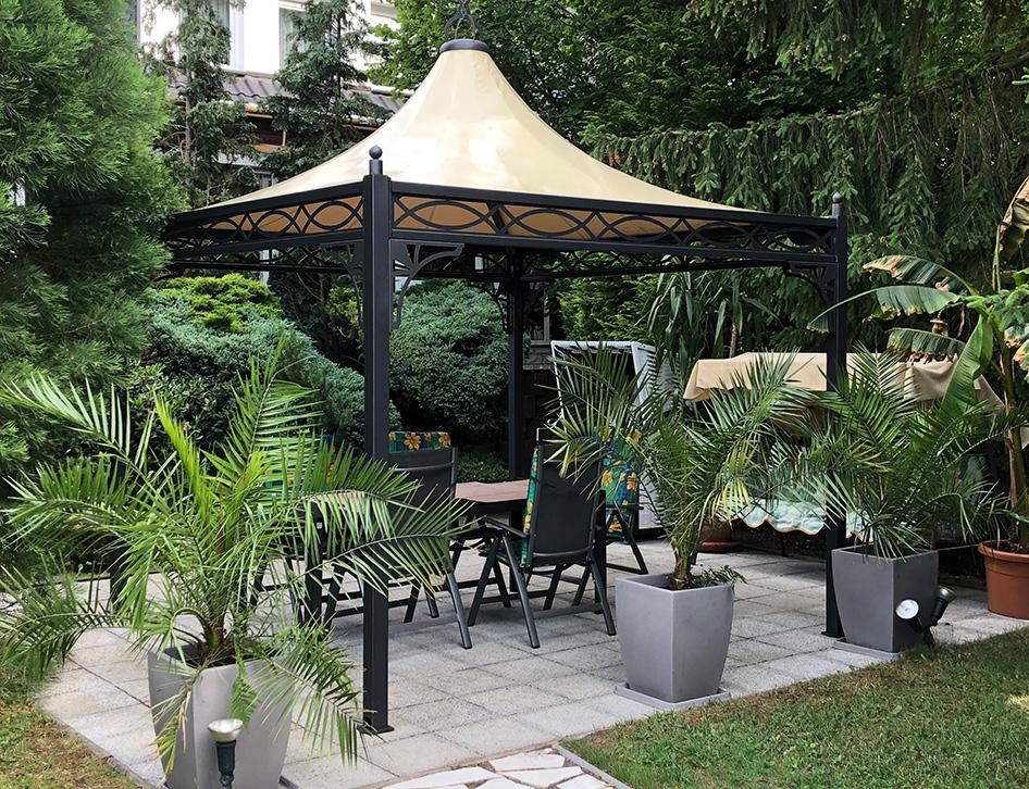 garten pavillon 3x3. Black Bedroom Furniture Sets. Home Design Ideas