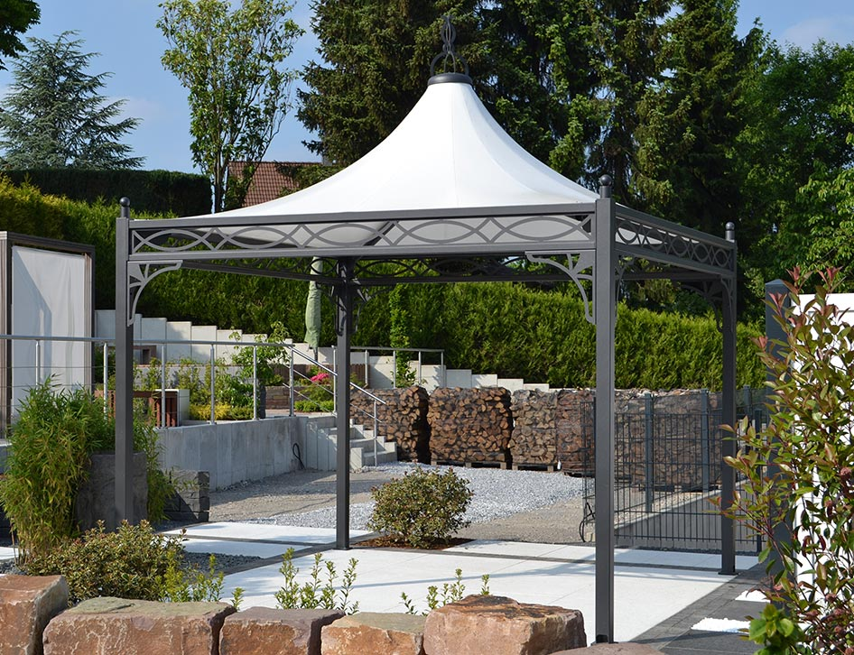 metall gartenpavillon 3x3 wetterfest. Black Bedroom Furniture Sets. Home Design Ideas